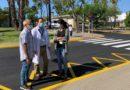 El Hospital Juan Ramón Jiménez avanza a buen ritmo en el asfaltado del recinto, con un 80% ejecutado